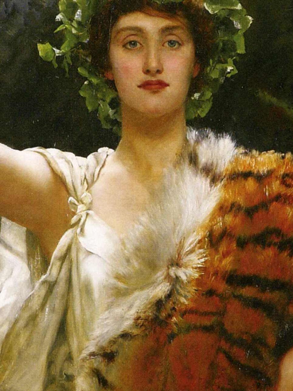 John Maler Collier, La prêtresse de Bacchus. Huile sur toile peinte entre 1885 et 1889.