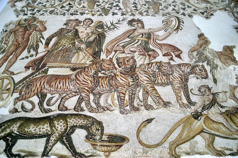 Le triomphe de Bacchus. Mosaïque de Sousse © Musée archéologique de Sousse, Turquie