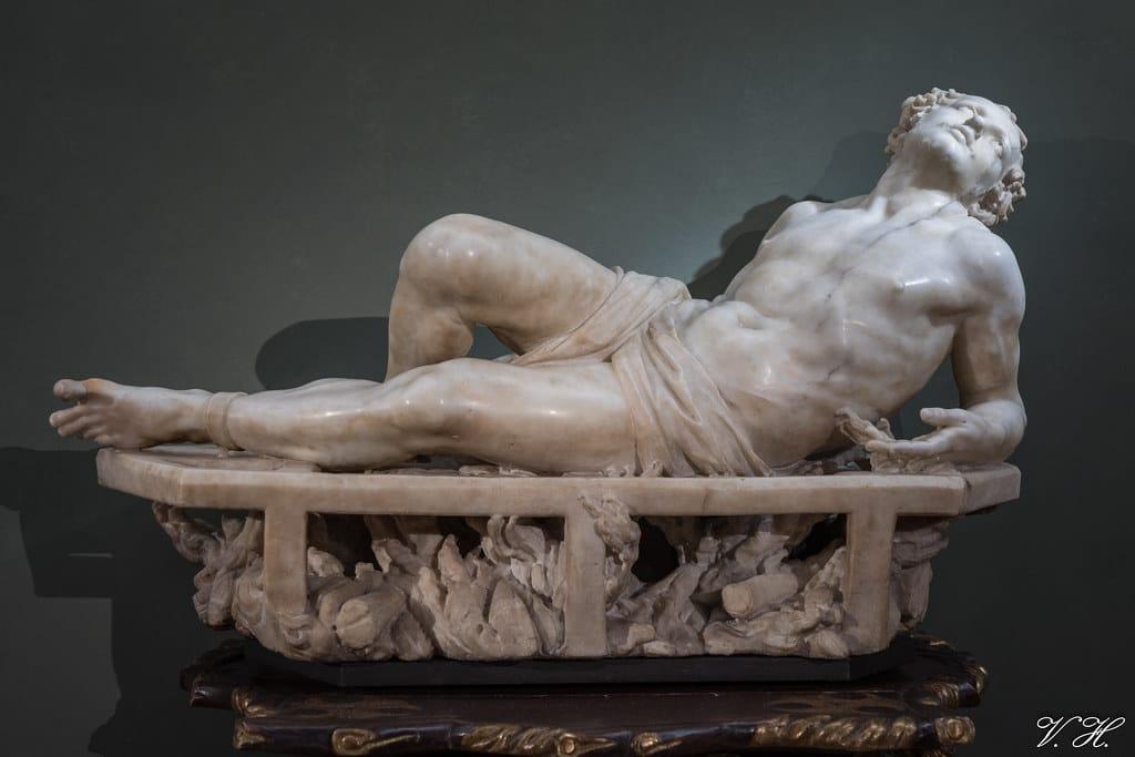 Le Martyre de Saint Laurent par Le Bernin. Réalisé entre 1613-1617 et exposé à la Galerie des Offices à Florence © Valéry Hugotte