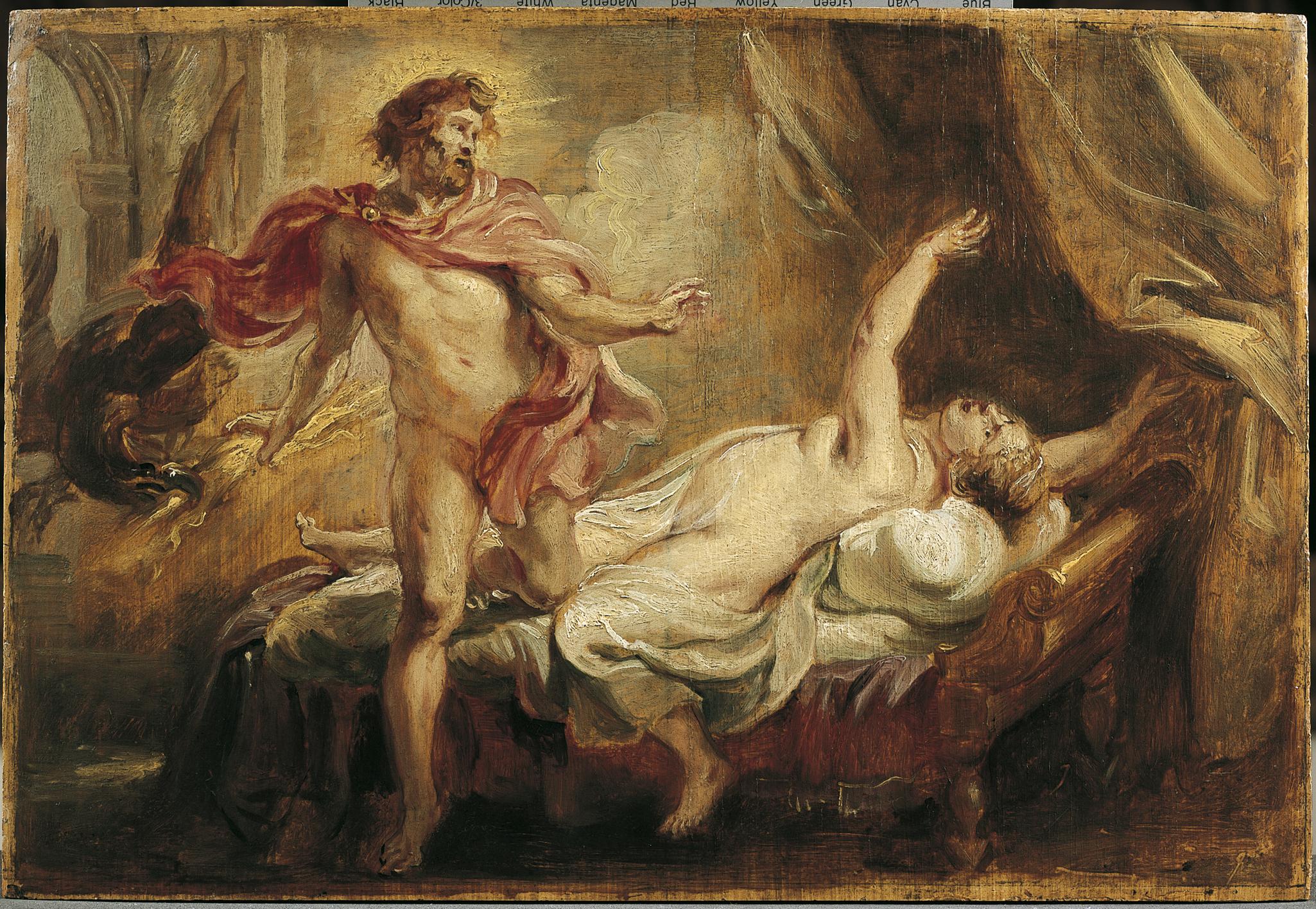 Rubens,Jupiter et Sémélé,huile sur bois Musées Royaux des Beaux Arts, Belgique © J. Geleyns - Art Photography