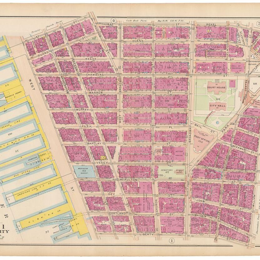 walter-bromley-manhattan-1908-carte-plan