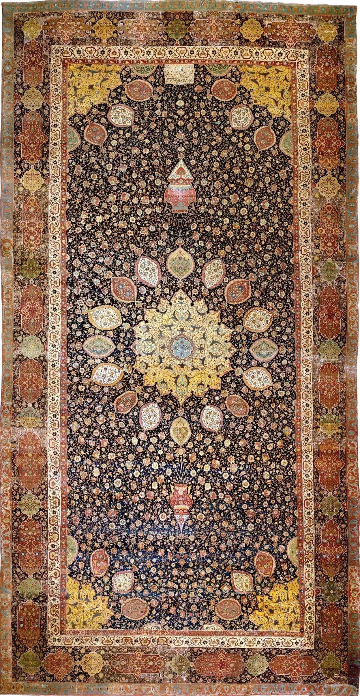 Le tapis Ardabil, Iran, 1539-1540 © Victoria and Albert Museum, London