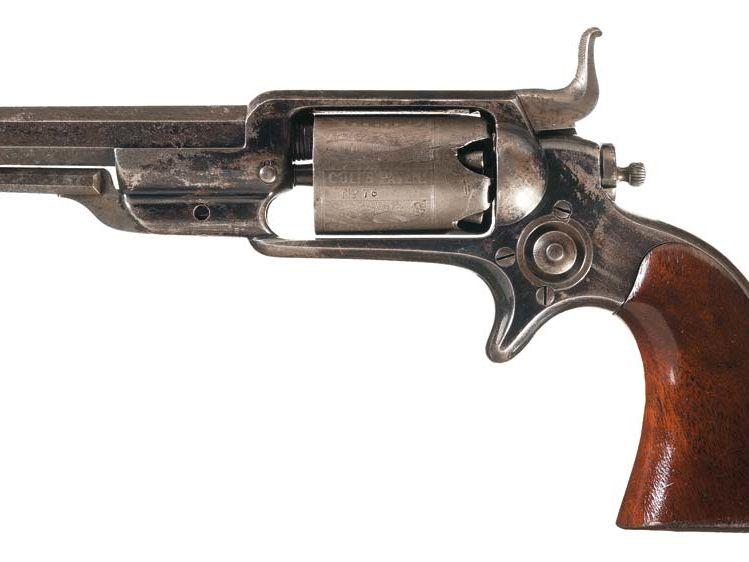 Revolver Colt Modele 1 sidehammer, 1855, gravé par Gustave Young © Rock Island Auction