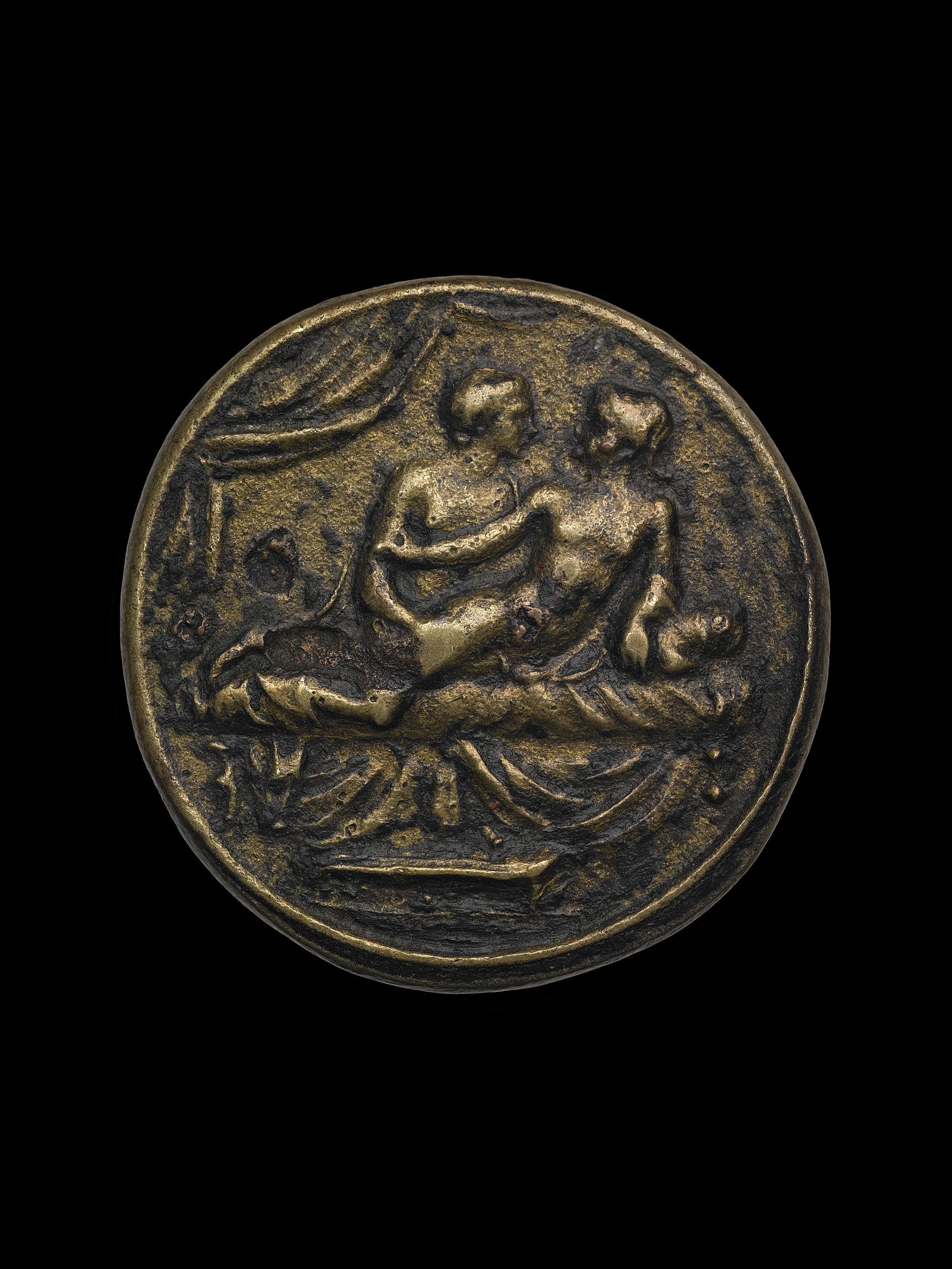 Spintria antique portant au revers le nombre XV © The Trustees of the British Museum