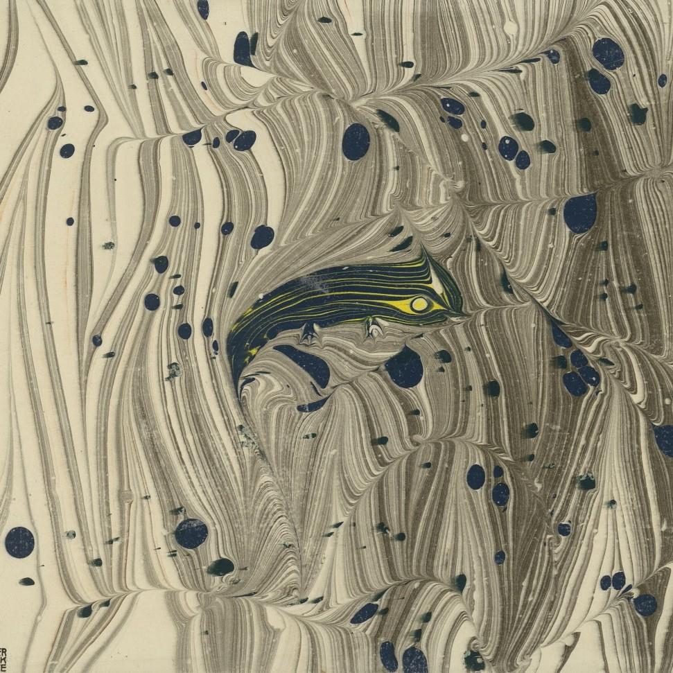Koloman Moser, papier marbré, Wiener Werkstätte. Vers 1903/1907 © Kunstbibliothek, Staatliche Museen zu Berlin - Preußischer Kulturbesitz / © Dietmar Katz