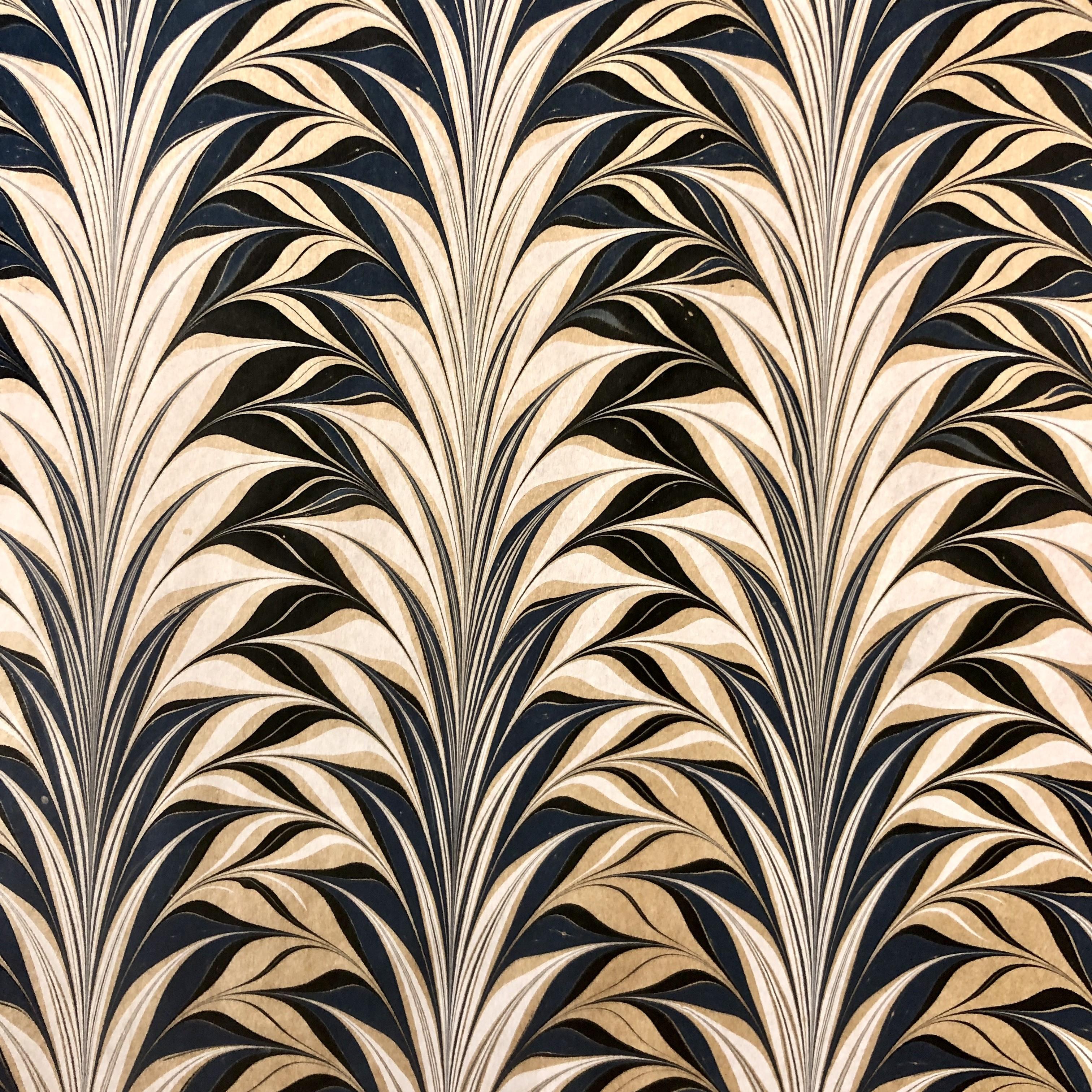 Sydney Cockerell, papier marbré sur papier kraft, vers 1970 © Musée du papier, Angoulême