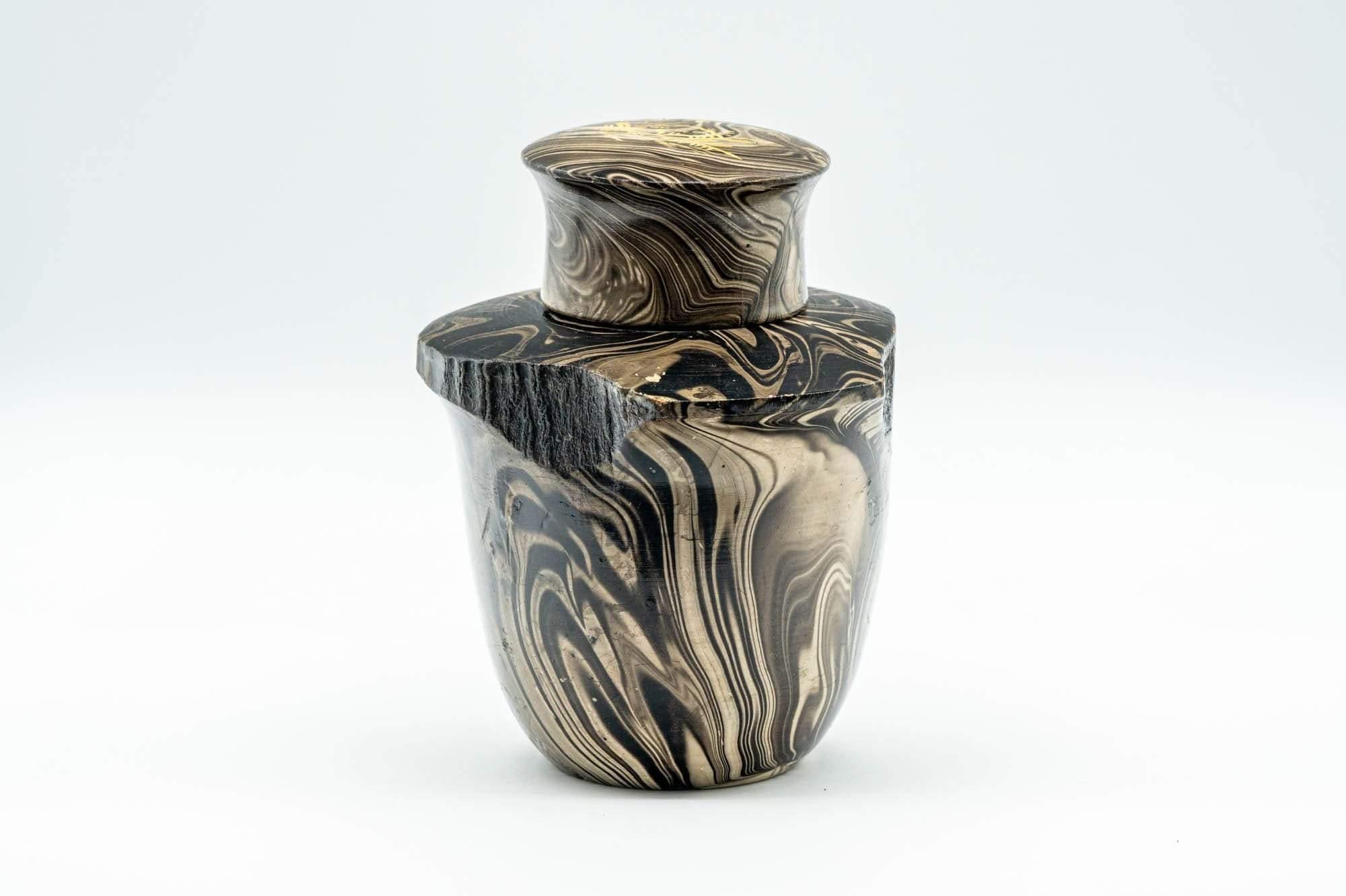 Boîte à thé en bois marbré suminagashi © Tezumi